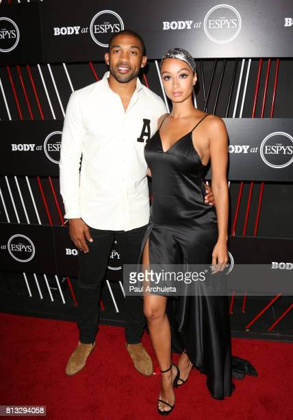 Player Orlando Scandrick and Model Draya Michele attend the ESPN Magazine Body Issue preESPYS party at Avalon Hollywood on July 11 2017 in Los...
