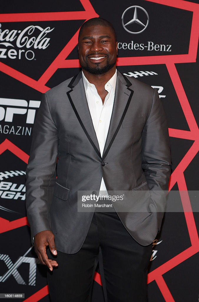 NFL player Ovie Mughelli attends ESPN The Magazine's 'NEXT' Event at Tad Gormley Stadium on February 1, 2013 in New Orleans, Louisiana.