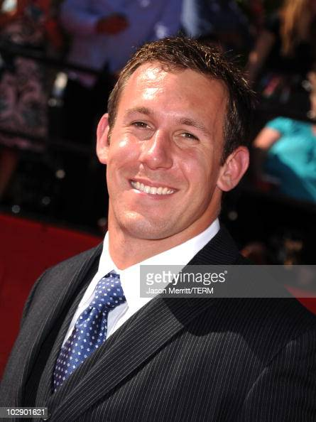 NFL player Owen Daniels arrives at the 2010 ESPY Awards at Nokia Theatre LA Live on July 14 2010 in Los Angeles California