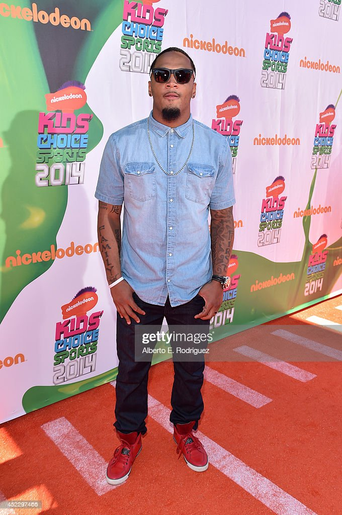 NFL player <a gi-track='captionPersonalityLinkClicked' href=/galleries/search?phrase=Patrick+Chung&family=editorial&specificpeople=2242933 ng-click='$event.stopPropagation()'>Patrick Chung</a> attends Nickelodeon Kids' Choice Sports Awards 2014 at UCLA's Pauley Pavilion on July 17, 2014 in Los Angeles, California.