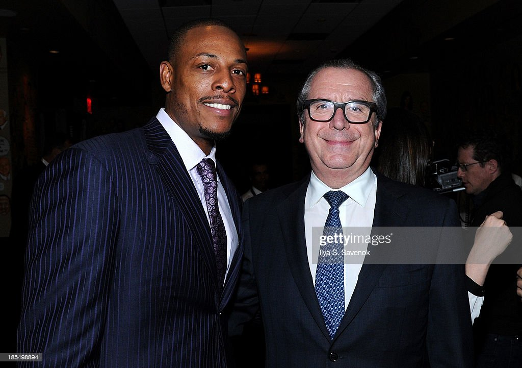 NBA player <a gi-track='captionPersonalityLinkClicked' href=/galleries/search?phrase=Paul+Pierce&family=editorial&specificpeople=201562 ng-click='$event.stopPropagation()'>Paul Pierce</a> (L) and Graff USA president and CEO Henri Barguirdjian attend DuJour's Jason Binn's welcoming NY Nets Star <a gi-track='captionPersonalityLinkClicked' href=/galleries/search?phrase=Paul+Pierce&family=editorial&specificpeople=201562 ng-click='$event.stopPropagation()'>Paul Pierce</a> To NYC event on October 21, 2013 in New York City.