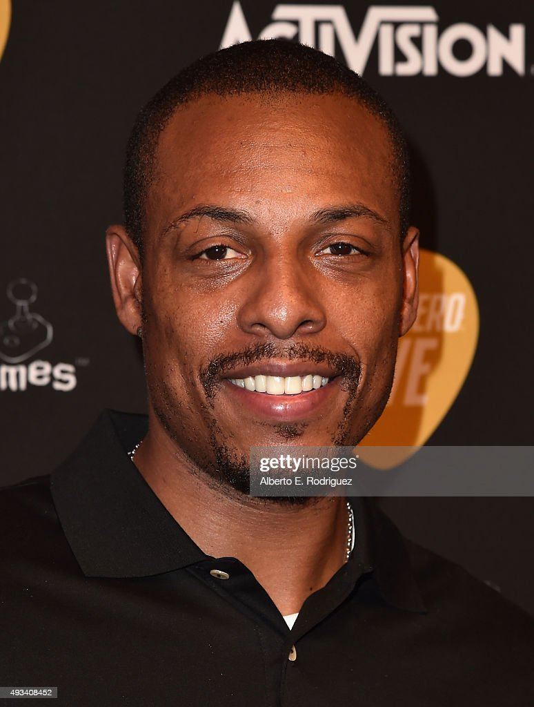 NBA player <a gi-track='captionPersonalityLinkClicked' href=/galleries/search?phrase=Paul+Pierce&family=editorial&specificpeople=201562 ng-click='$event.stopPropagation()'>Paul Pierce</a> attends the Guitar Hero Live Launch Party at YouTube Space LA on October 19, 2015 in Los Angeles, California.