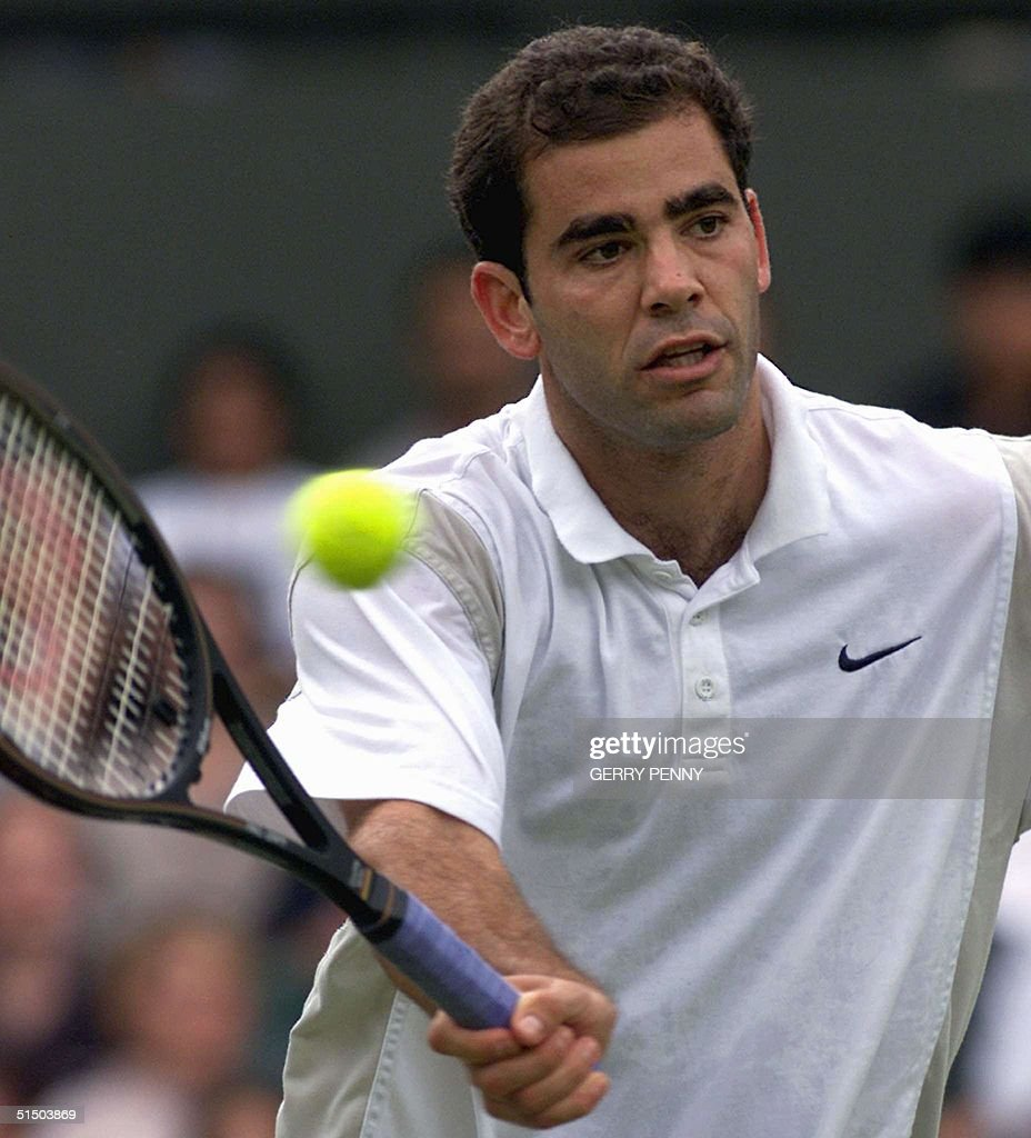 US player Pete Sampras returns a forehand volley d