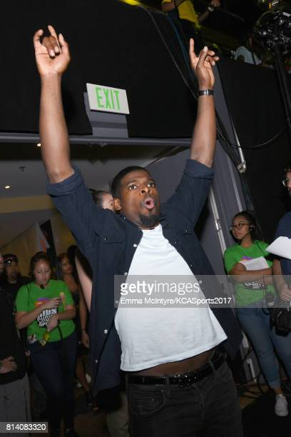 NHL player P K Subban attends Nickelodeon Kids' Choice Sports Awards 2017 at Pauley Pavilion on July 13 2017 in Los Angeles California