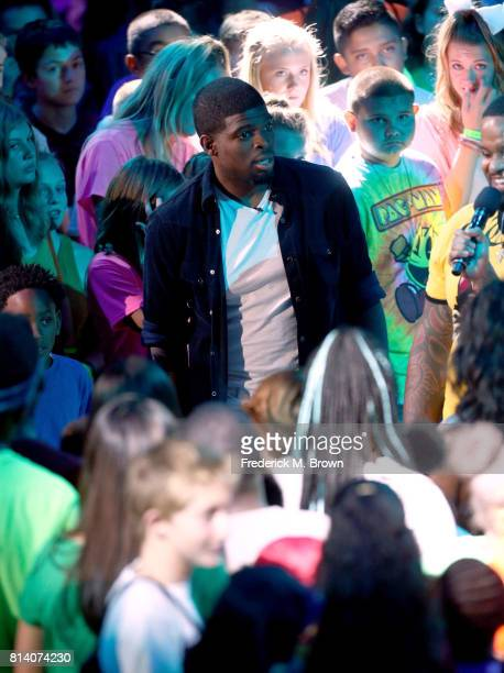Player P K Subban onstage during Nickelodeon Kids' Choice Sports Awards 2017 at Pauley Pavilion on July 13 2017 in Los Angeles California