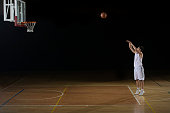 Player Practicing A Free Throw