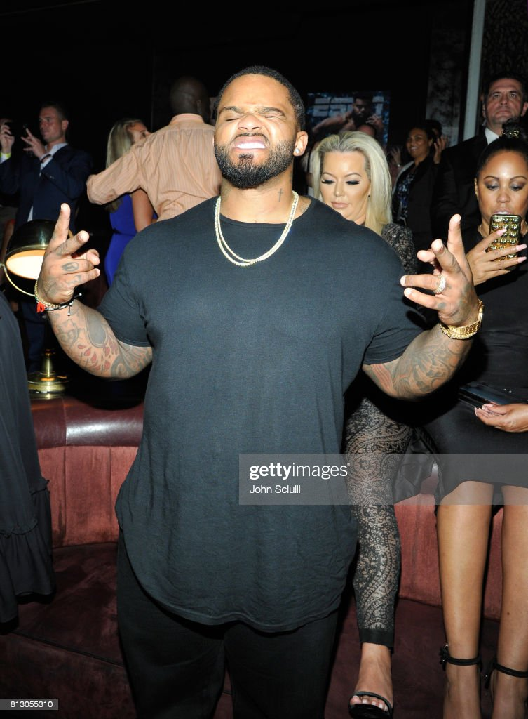 MLB player Prince Fielder (L) and Chanel Fielder at BODY at ESPYS at Avalon on July 11, 2017 in Hollywood, California.