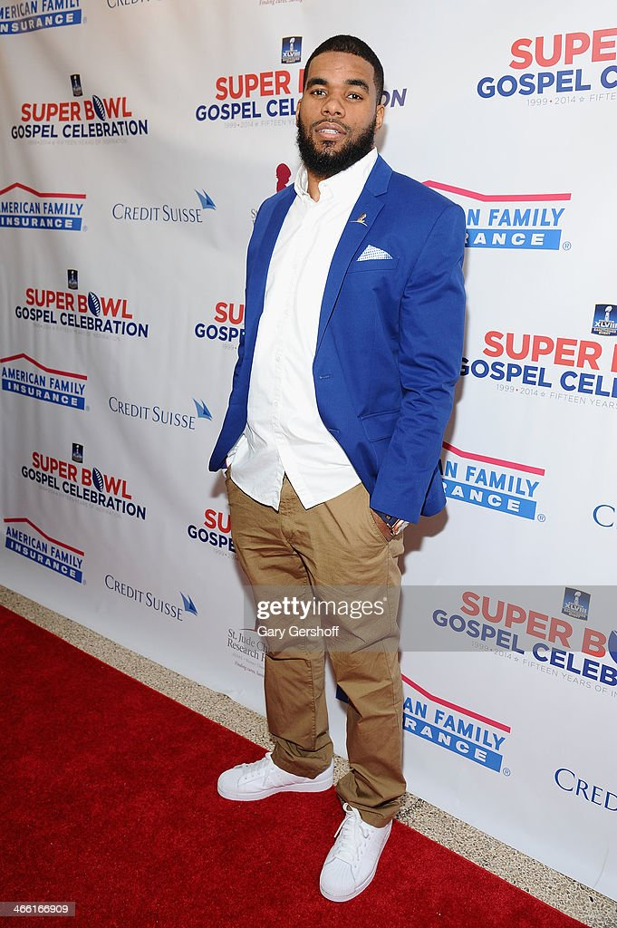NFL Player <a gi-track='captionPersonalityLinkClicked' href=/galleries/search?phrase=Quintin+Demps&family=editorial&specificpeople=5085122 ng-click='$event.stopPropagation()'>Quintin Demps</a> attends the Super Bowl Gospel Celebration 2014 on January 31, 2014 in New York City.