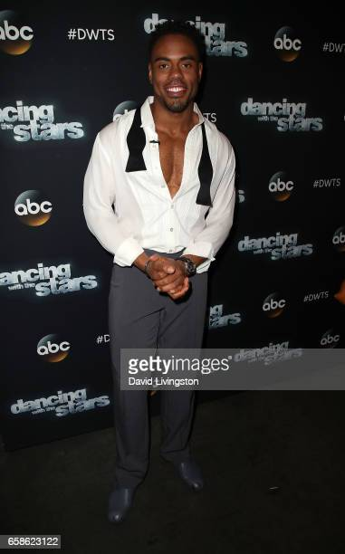 NFL player Rashad Jennings attends 'Dancing with the Stars' Season 24 at CBS Televison City on March 27 2017 in Los Angeles California