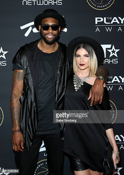 NBA player Rasual Butler and singer Leah LaBelle attend The Players' Awards presented by BET at the Rio Hotel Casino on July 19 2015 in Las Vegas...