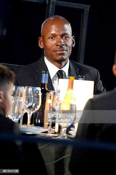 NBA player Ray Allen sits in the audience during The Players' Awards presented by BET at the Rio Hotel Casino on July 19 2015 in Las Vegas Nevada