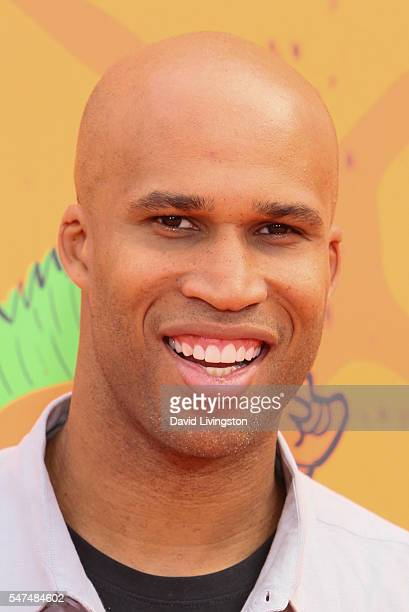 NBA player Richard Jefferson arrives at the Nickelodeon Kids' Choice Sports Awards 2016 at the UCLA's Pauley Pavilion on July 14 2016 in Westwood...