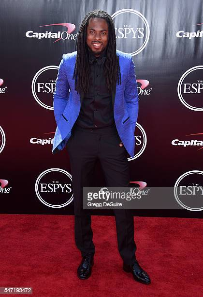 NFL player Richard Sherman arrives at The 2016 ESPYS at Microsoft Theater on July 13 2016 in Los Angeles California