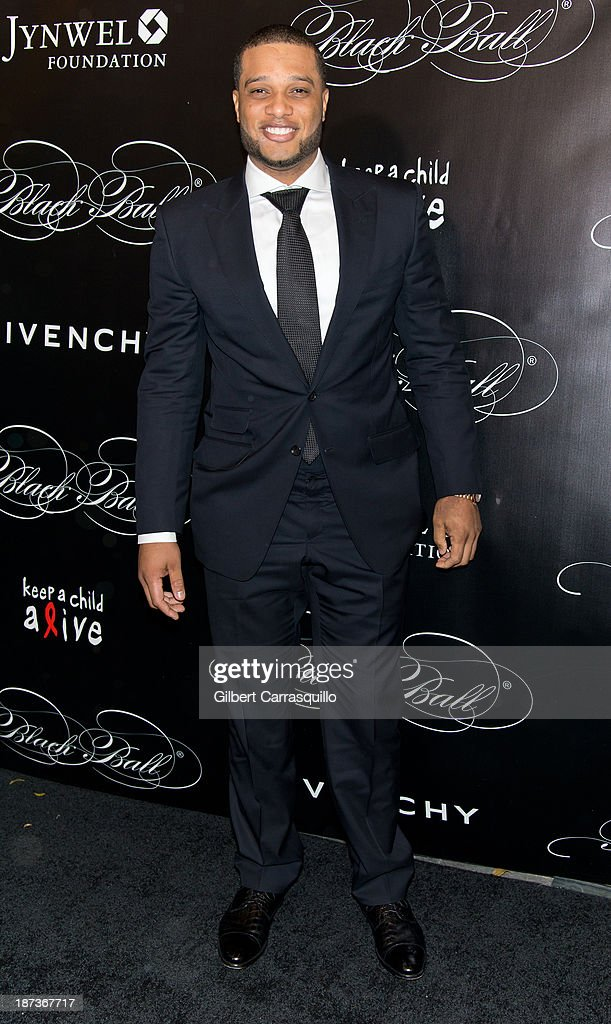 MLB player Robinson Cano attends the 10th annual Keep A Child Alive Black Ball at Hammerstein Ballroom on November 7, 2013 in New York City.