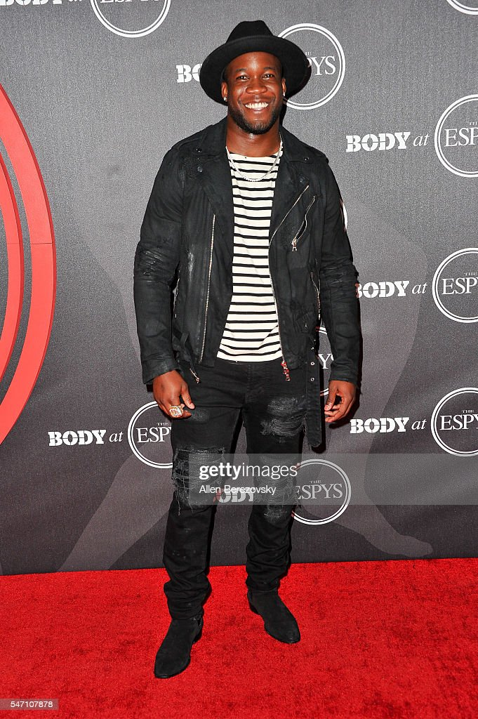 NFL player Ronnie Hillman attends BODY At The ESPYs PreParty at Avalon Hollywood on July 12 2016 in Los Angeles California