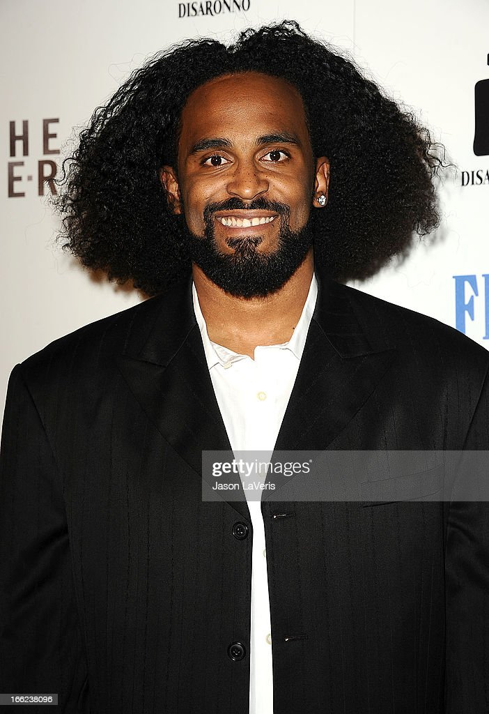 NBA player <a gi-track='captionPersonalityLinkClicked' href=/galleries/search?phrase=Ronny+Turiaf&family=editorial&specificpeople=224998 ng-click='$event.stopPropagation()'>Ronny Turiaf</a> attends the premiere of 'To The Wonder' at Pacific Design Center on April 9, 2013 in West Hollywood, California.