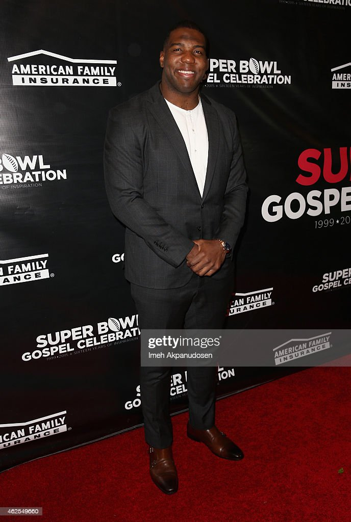 NFL player Russell Okung attends the 16th Annual Super Bowl Gospel Celebration at ASU Gammage on January 30 2015 in Tempe Arizona