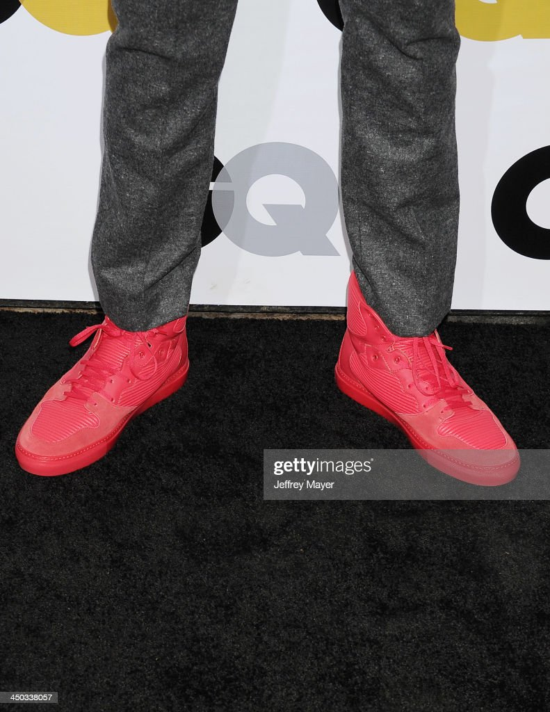 NBA player <a gi-track='captionPersonalityLinkClicked' href=/galleries/search?phrase=Russell+Westbrook&family=editorial&specificpeople=4044231 ng-click='$event.stopPropagation()'>Russell Westbrook</a> (shoe detail) at the 2013 GQ Men Of The Year Party at The Ebell of Los Angeles on November 12, 2013 in Los Angeles, California.
