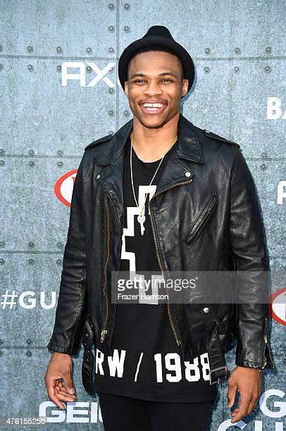 NBA player Russell Westbrook attends Spike TV's Guys Choice 2015 at Sony Pictures Studios on June 6 2015 in Culver City California
