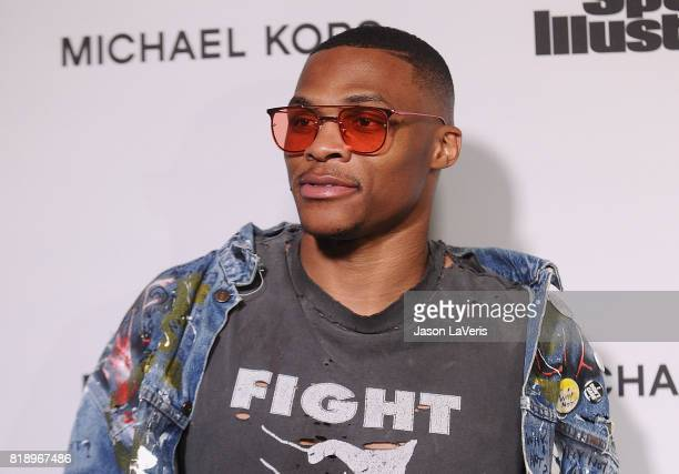 NBA player Russell Westbrook attends the Sports Illustrated Fashionable 50 event at Avenue on July 18 2017 in Los Angeles California