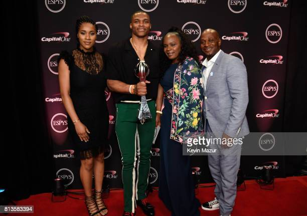 NBA player Russell Westbrook winner of Best Male Athlete and guests attend The 2017 ESPYS at Microsoft Theater on July 12 2017 in Los Angeles...