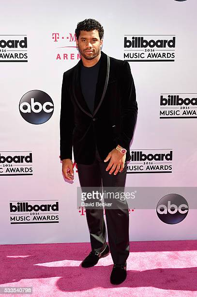 NFL player Russell Wilson attends the 2016 Billboard Music Awards at TMobile Arena on May 22 2016 in Las Vegas Nevada