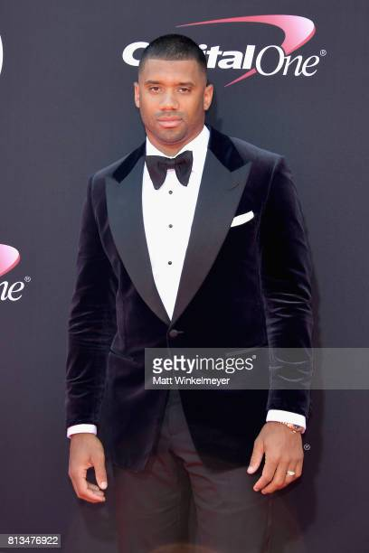 NFL player Russell Wilson attends The 2017 ESPYS at Microsoft Theater on July 12 2017 in Los Angeles California