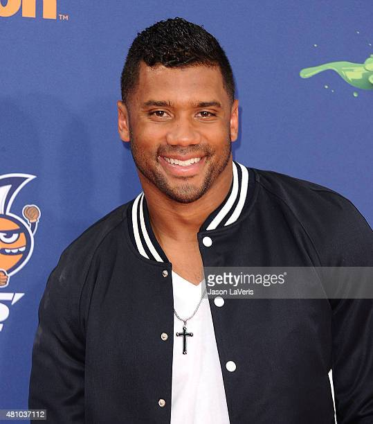 Player Russell Wilson attends the Nickelodeon Kids' Choice Sports Awards at UCLA's Pauley Pavilion on July 16 2015 in Westwood California