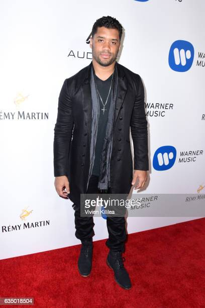 NFL player Russell Wilson attends the Warner Music Group GRAMMY Party at Milk Studios on February 12 2017 in Hollywood California