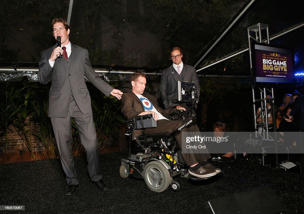 NFL player Scott Fujita and former NFL player Steve Gleason attend The Giving Back Fund's 4th Annual Big Game Big Give Super Bowl Celebration on February 2, 2013 in New Orleans, Louisiana.