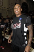 Player Shannon Brown attends the LudaDay 2012 Weekend Celebrity Basketball Game at Forbes Arena on September 2 2012 in Atlanta Georgia