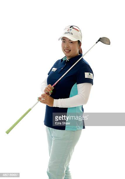 LPGA player Shanshan Feng of China poses for a portrait prior to the start of the Founders Cup at the JW Marriott Desert Ridge Resort on March 19...