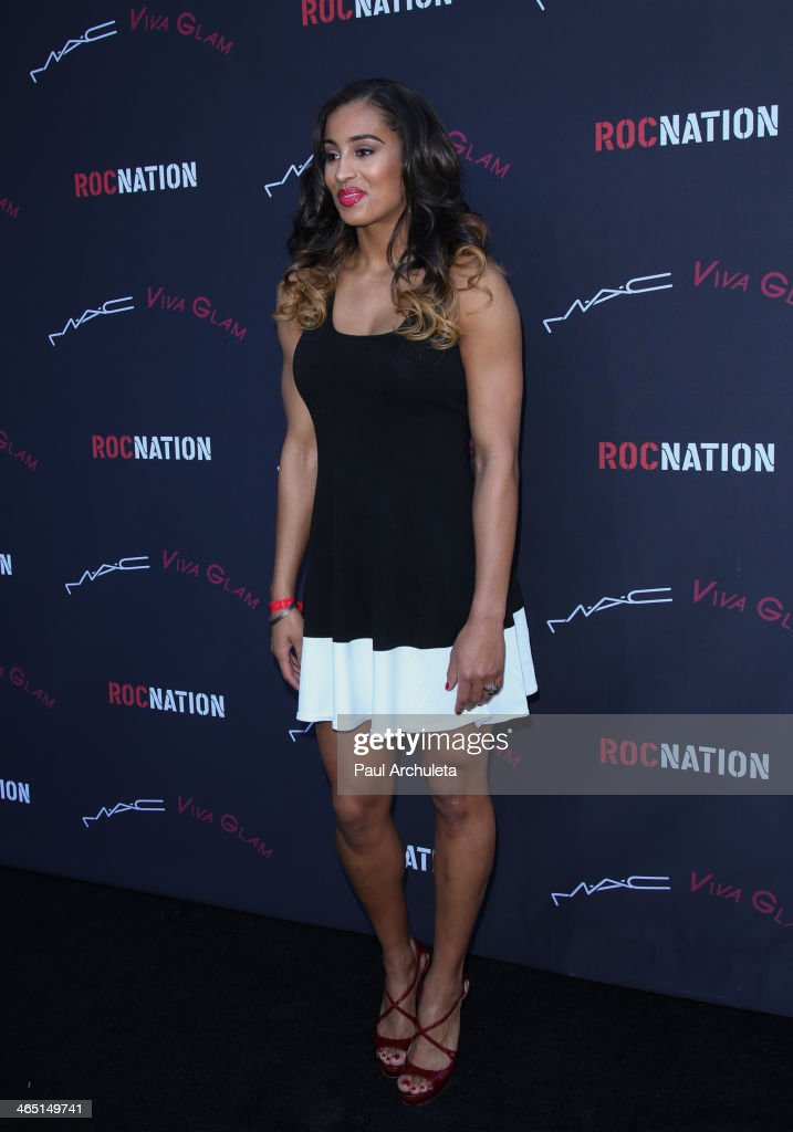 Player <a gi-track='captionPersonalityLinkClicked' href=/galleries/search?phrase=Skylar+Diggins&family=editorial&specificpeople=5791961 ng-click='$event.stopPropagation()'>Skylar Diggins</a> attends the Roc Nation pre-Grammy brunch on January 25, 2014 in Los Angeles, California.
