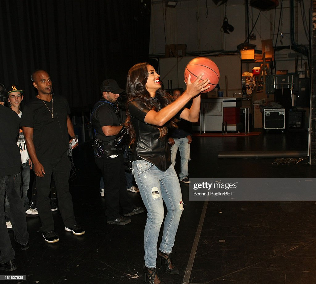 WNBA player <a gi-track='captionPersonalityLinkClicked' href=/galleries/search?phrase=Skylar+Diggins&family=editorial&specificpeople=5791961 ng-click='$event.stopPropagation()'>Skylar Diggins</a> visits 106 & Park at 106 & Park Studio on September 23, 2013 in New York City.