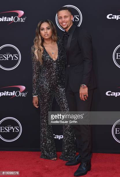 NBA player Steph Curry and author Ayesha Curry arrive at the 2017 ESPYS at Microsoft Theater on July 12 2017 in Los Angeles California
