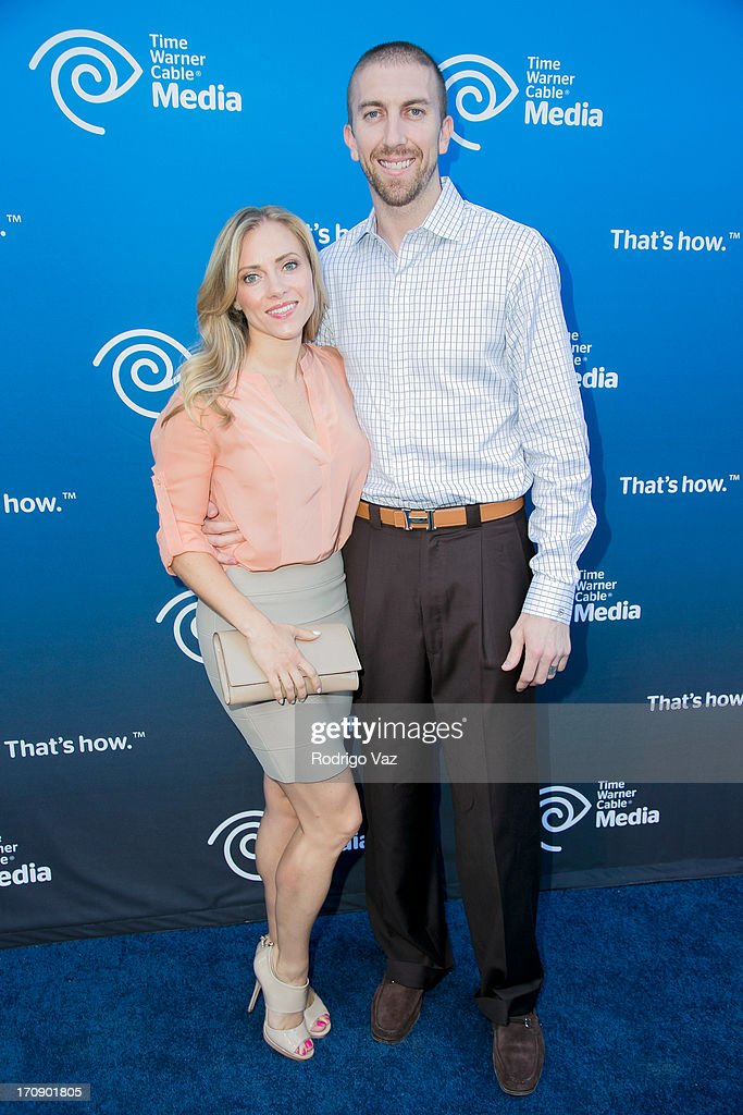 NBA player <a gi-track='captionPersonalityLinkClicked' href=/galleries/search?phrase=Steve+Blake&family=editorial&specificpeople=204474 ng-click='$event.stopPropagation()'>Steve Blake</a> (R) attends the Time Warner Cable Media (TWC Media) 'View From The Top' Upfront at Vibiana on June 19, 2013 in Los Angeles, California.