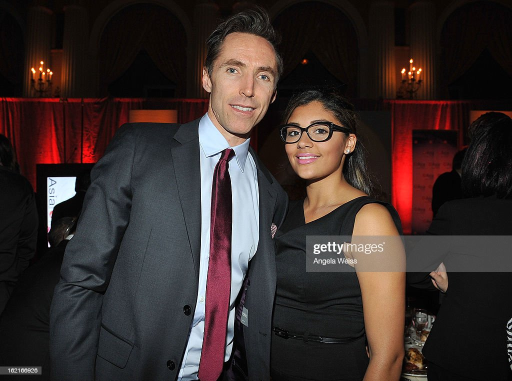 NBA player <a gi-track='captionPersonalityLinkClicked' href=/galleries/search?phrase=Steve+Nash+-+Basketball+Player&family=editorial&specificpeople=201513 ng-click='$event.stopPropagation()'>Steve Nash</a> and Brittany Richardson attend the Girard-Perregaux and Asia Society event honoring NBA Great Yao Ming with <a gi-track='captionPersonalityLinkClicked' href=/galleries/search?phrase=Steve+Nash+-+Basketball+Player&family=editorial&specificpeople=201513 ng-click='$event.stopPropagation()'>Steve Nash</a> at Millennium Biltmore Hotel on February 19, 2013 in Los Angeles, California.