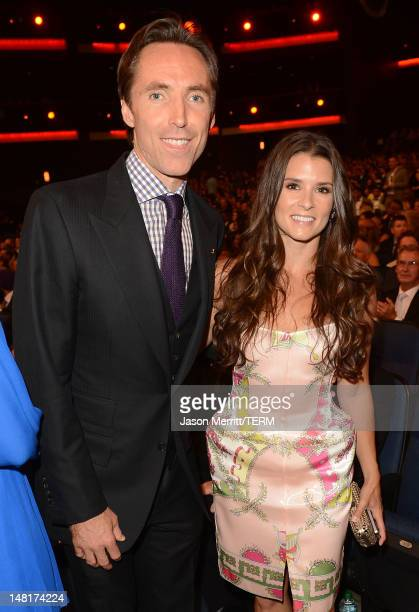 NBA player Steve Nash of the Los Angeles Lakers and NASCAR driver Danica Patrick in the audience during the 2012 ESPY Awards at Nokia Theatre LA Live...