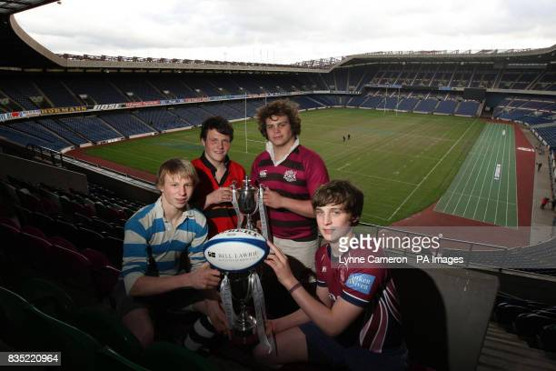 U18 player Stewart Shaw of Stuarts Melville U18 player Ross Turner of Fettes College U15 player Cameron Simpson of Accies and U15 player Nick Hurn of...