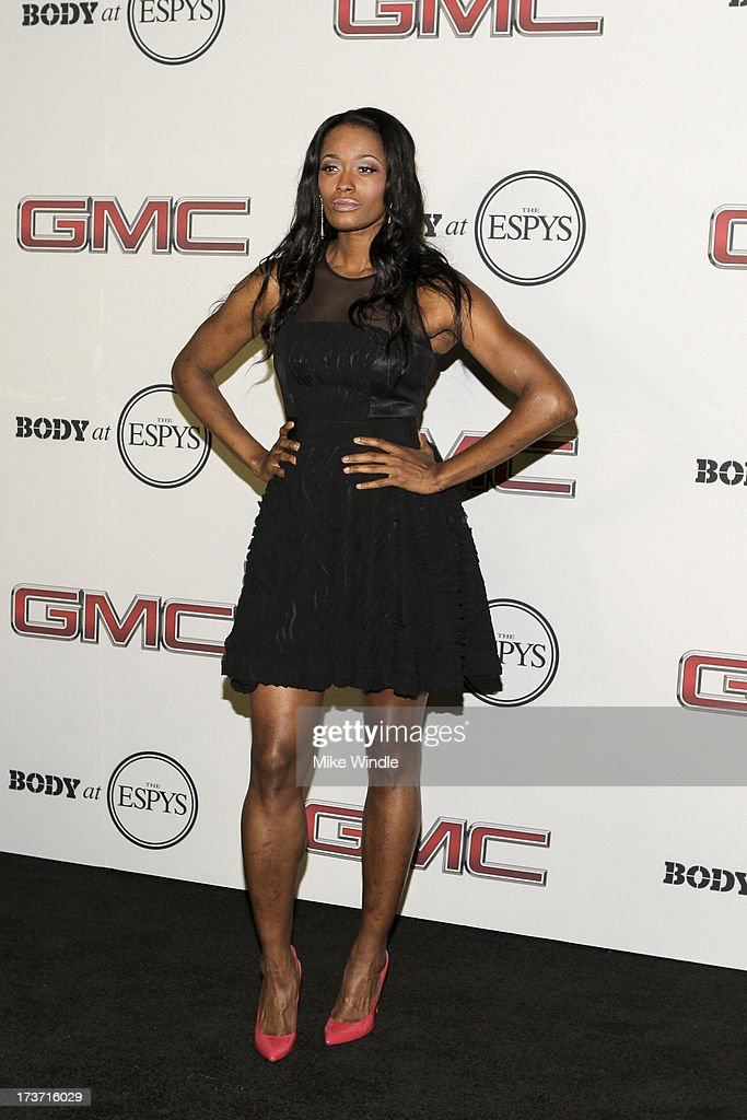 WNBA player Swin Cash arrives at ESPN the Magazine's 'Body Issue' 5th annual ESPY's event at Lure on July 16, 2013 in Hollywood, California.