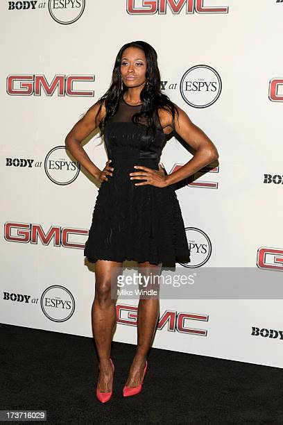 WNBA player Swin Cash arrives at ESPN the Magazine's 'Body Issue' 5th annual ESPY's event at Lure on July 16 2013 in Hollywood California