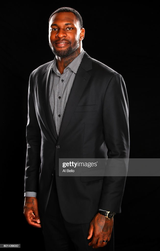 NBA player Tarik Black poses for a portrait at NBPA Headquarters on June 23, 2017 in New York City.