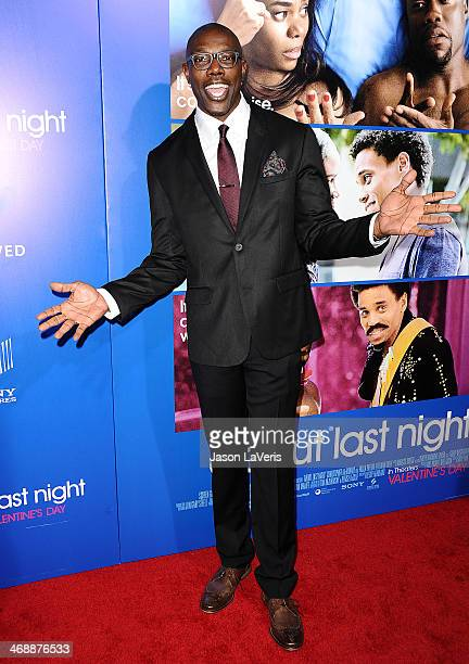 NFL player Terrell Owens attends the Pan African Film Arts Festival premiere of 'About Last Night' at ArcLight Cinemas Cinerama Dome on February 11...