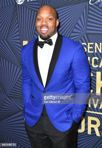 NFL player Terrell Suggs attends BET Presents the American Black Film Festival Honors on February 17 2017 in Beverly Hills California