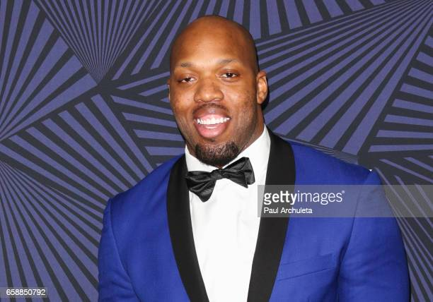 Player Terrell Suggs attends the BET's 2017 American Black Film Festival Honors Awards at The Beverly Hilton Hotel on February 17 2017 in Beverly...