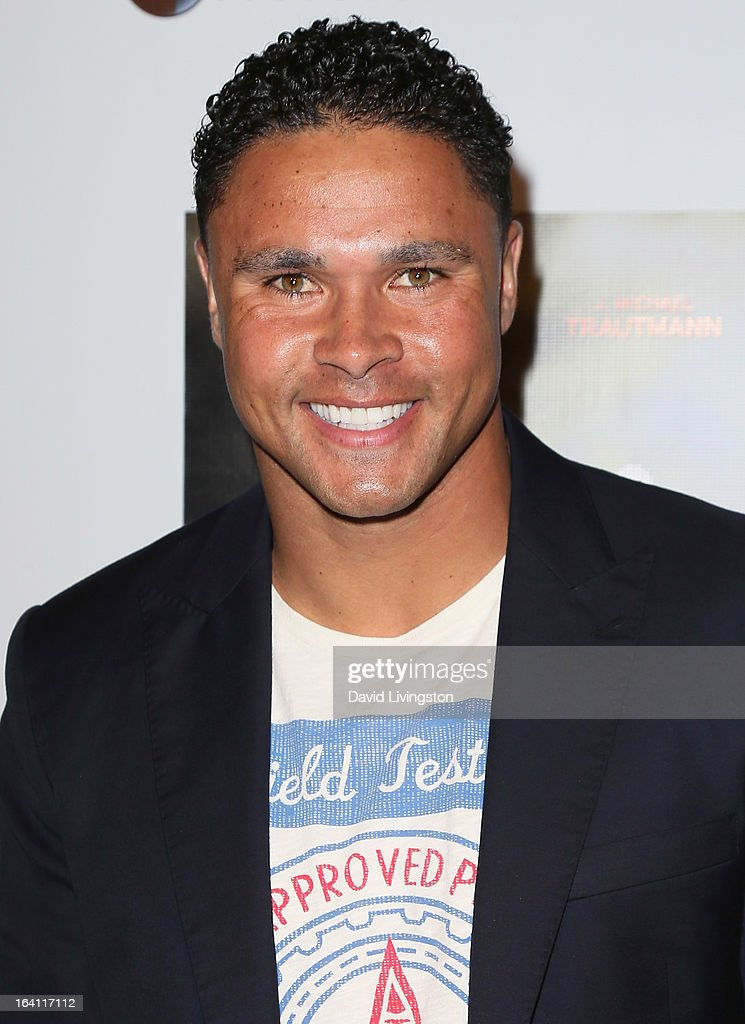NFL player Thomas Williams attends the premiere of 'A Resurrection' at ArcLight Sherman Oaks on March 19, 2013 in Sherman Oaks, California.