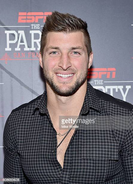 NFL player Tim Tebow attends ESPN The Party on February 5 2016 in San Francisco California