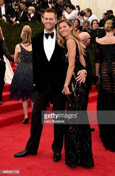 NFL player Tom Brady and model Gisele Bundchen attend the 'Charles James Beyond Fashion' Costume Institute Gala at the Metropolitan Museum of Art on...
