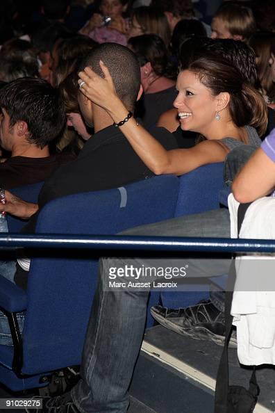 NBA player Tony Parker and actress Eva Longoria Parker attend the premiere of 'Mozart l'Opera Rock' at Palais des Sports on September 22 2009 in...