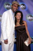 NBA player Tony Parker of the San Antonio Spurs and actress Eva Longoria arrive at the ABC TCA party at the Abby on July 27 2005 in West Hollywood...
